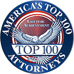 Logo Recognizing America's Top 100 Attorneys Lifetime Achivement with The Poole Law Group