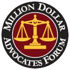 Logo Recognizing Million Dollar Advocates Forum's affiliation with The Poole Law Group