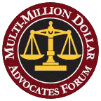 Logo Recognizing Multi-Million Dollar Advocates Forum's affiliation with The Poole Law Group