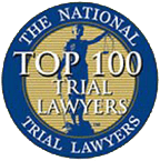 Logo Recognizing The National Trial Lawyers Top 100's affiliation with The Poole Law Group