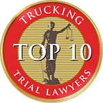 Logo Recognizing NTLs Trucking Top 10 affiliation with The Poole Law Group